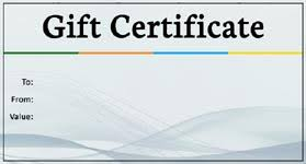 Fillable Gift Certificate Template Free Gift Template Select A Gift Certificate Template To Customize