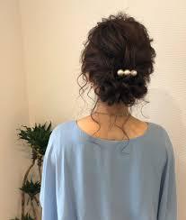 平原さんのヘアスタイル お呼ばれヘア宮崎市ヘ Tredina