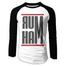 Ham Size Chart Amazon Com Wiongh Opp Rum Ham Long Sleeve Baseball Raglan