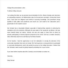 Recommendation Letters For College Nice Template How Long Should A