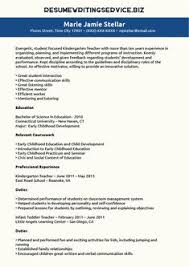 Sample Teaching Resumes For Preschool   Preschool Teacher Resume ...