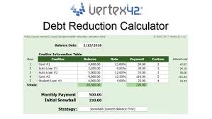 debt reduction calculator snowball debt reduction calculator debt snowball calculator
