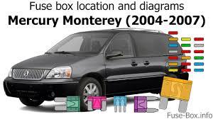 fuse box location and diagrams mercury monterey 2004 2007 fuse box location and diagrams mercury monterey 2004 2007