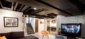 highly popular in coffee s and other modernist locations a couple coats of paint can completely change the feel of an exposed ceiling
