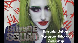 squad female joker makeup tutorial reved jade graves