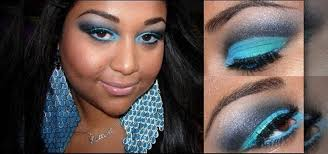 dark warm skin tones glow how to create a bold turquoise and black eye makeup look
