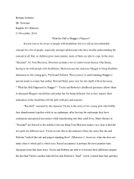 thematic analysis essay literary analysis of recitatif beowulf  literary analysis of recitatif