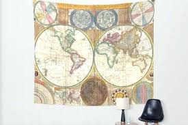 world map wall tapestry old world map wall tapestry home decor by world map wall art