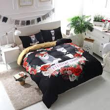 skull bedding set 3d fl wedding sugar skull bedding set boy skull bedding sets