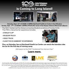 Islanders To Host Nhl Centennial Fan Arena Sept 16 17 On