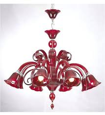 new murano style chandelier for bright glass style chandelier in a gorgeous bright red colour 99