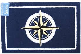 nautical beach area rugs for kitchen outdoor patio compass 1