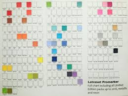 Free Full Letraset Promarker Chart Including All Limited