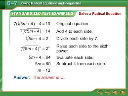 example 3 original equation add 4 to each side divide each side by 7