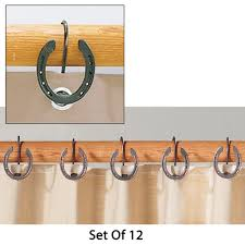 rustic horseshoe shower curtain hooks for the barn apartment
