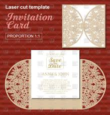 Die Laser Cut Wedding Card Template Wedding Invitation Card With Lace Stock Vector Image