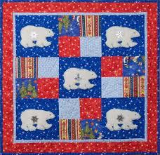 180 best Debbie MUMM Quilts etc images on Pinterest | Patchwork ... & Debbie Mumm: Quilt Project December 2009 Polar Bear quilt. Do bears in soft, Adamdwight.com