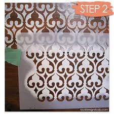 image stencils furniture painting. image stencils furniture painting stenciling how to with moroccan stencil moorish fleur de lis e