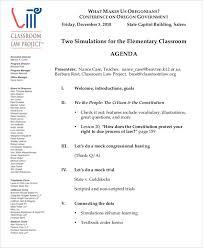 Free Agenda Samples Amazing Classroom Agenda Template Kordurmoorddinerco