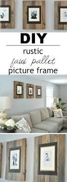 4 faux distressed pallet wood frame trio