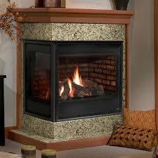 heat glo corner gas fireplace