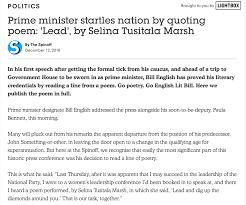 Via The Spin Off Bill English Quotes Selina Tusitala Marsh Nz