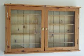 glass fronted wall cabinets wooden cabinet waxed pine display