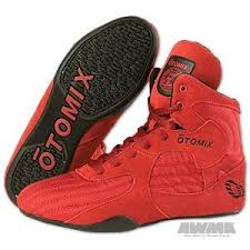 Otomix Stingray Boot Wrestling Shoes Red Black Size