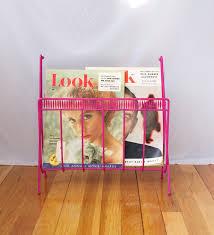 Pink Magazine Holder Pink Magazine Rack Vintage 100's Custom MidCentury dress my nest 7