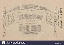 Lyric Theatre Seating Chart London Lyric Theatre Shaftesbury Avenue Vintage Seating Plan