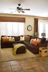living room ideas with brown sectionals. I Like The Valance And Splash Of Color On Brown Sectional. Blue Living RoomsLiving Room Ideas With Sectionals L