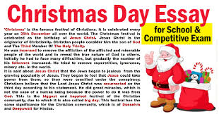 Christmas Day Essay Essay On Christmas Day For Students Kids Paragraph 100 400