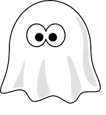 Small Picture Cartoon Ghost Coloring Page for Kids Free Printable Picture
