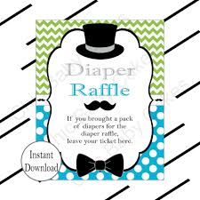 raffle sign little man diaper raffle tickets sign turquoise lime chic