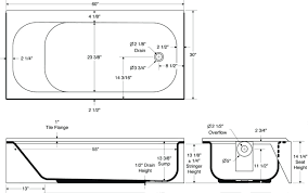what is the standard bathtub size tub size standard