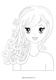Small Picture manga girl Pippis Coloring Pages