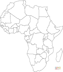 Small Picture Outline Map of Africa with Countries coloring page Free