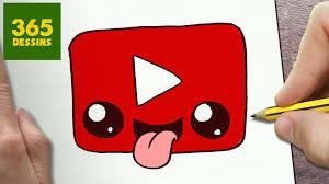 Comment Dessiner Logo Youtube Kawaii Tape Par Tape Dessins