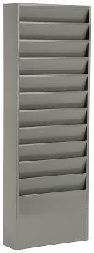 wall hanging file organizer gray