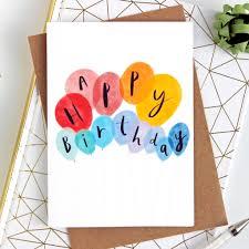 Balloon Birthday Card Design Balloon Happy Birthday Card