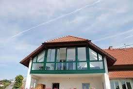 Balkonverglasung In Grün Zum Aufschieben - Fenster-Schmidinger