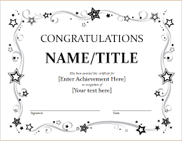 Congratulations Certificates Templates Congratulation Certificate Template For Word Document Hub