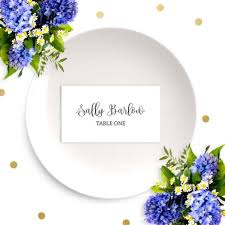 Dinner Name Card Template Wedding Place Cards Chic Calligraphy Escort Cards Diy