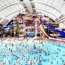 indoor pool with waterslide. World Waterpark At West Edmonton Mall - WhiteWater . Indoor Pool With Waterslide