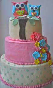 The Cake Box Girls Owl Baby Shower CakeOwl Baby Shower Cakes For A Girl