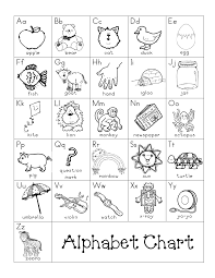Alphabet Chart Black And White Black And White Alphabet Chart Printable Writing Folders