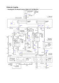 Headlights and road l s electrical schematic u s 2002