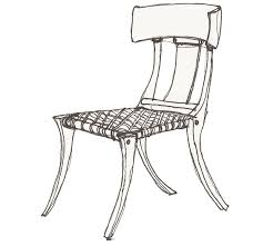 the klismos chair was designed in greece by an unknown designer in the 5th century it was made for fort which can be seen in the way it