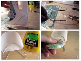making dollhouse furniture. mid centuryish chair from the corner of a bottle and metal paper clip modern dollhouse furnitureminiature making furniture u