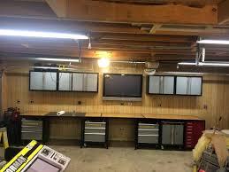 diy garage lighting. Workbench Diy Garage Lighting
